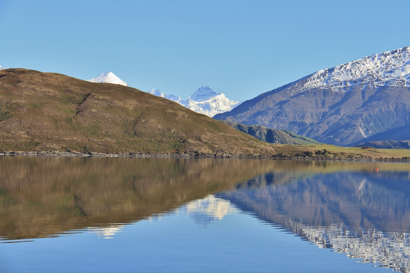 Mount Aspiring reflections in Lake Wanaka