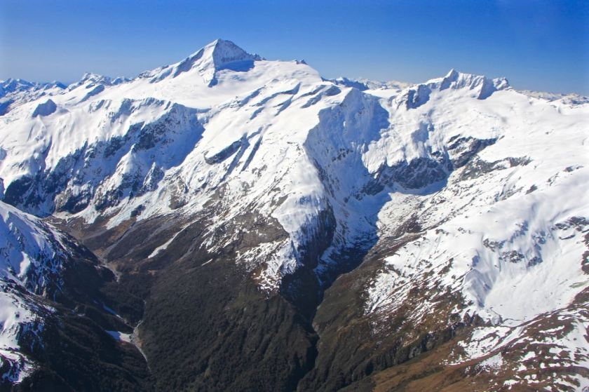 Mount Aspiring at the head of the West Matukituki Valley, Mt Aspiring National Park.