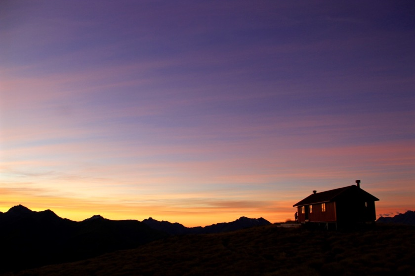 Sunset at Brewster Hut, Mt Aspiring National Park NZ