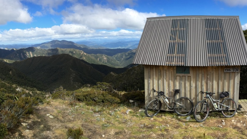 Backcountry Hut on Old Ghost Road, West Coast NZ