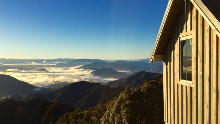 Sunrise above the clouds on the Old Ghost Road, West Coast NZ