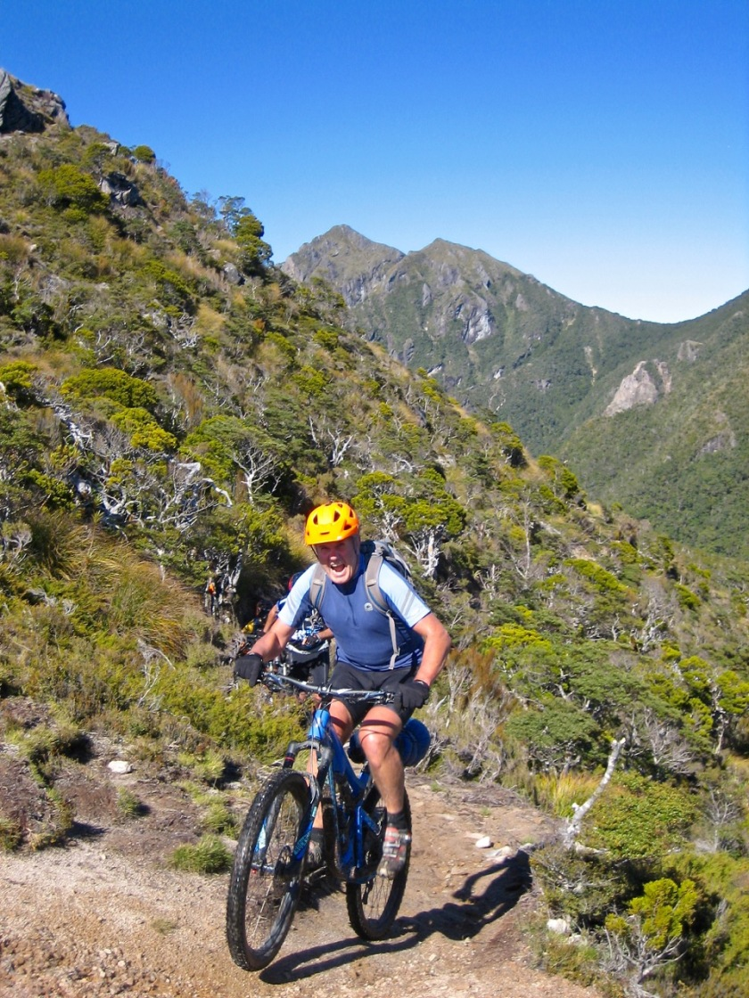 Mountain Biking on the Old Ghost Road, West Coast NZ