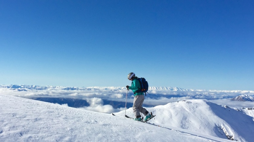 Ski touring Treble Cone Wanaka New Zealand