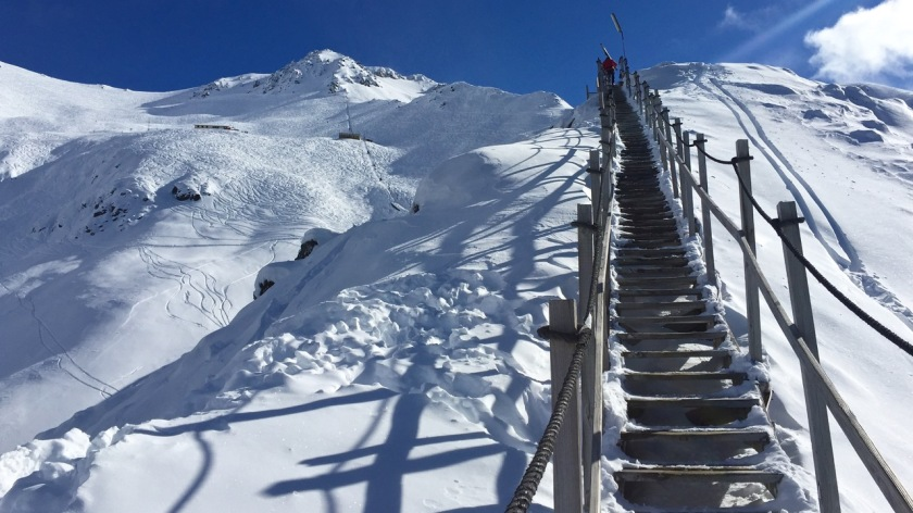 Stairs to Broken River Ski Area, New Zealand