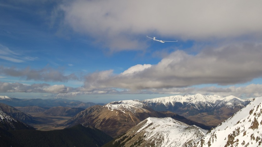 A glider at Craigieburn Valley Ski Area, Canterbury, New Zealand