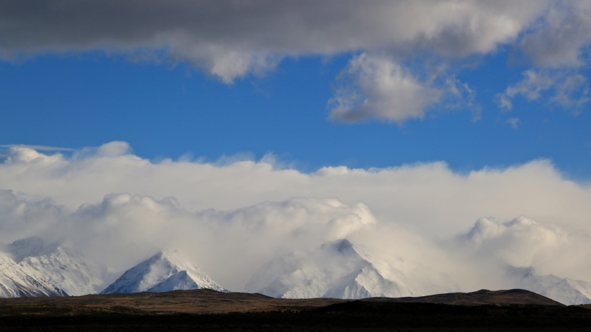 Storm clouds over the Southern Alps, Mackenzie Country, Canterbury, New Zealand