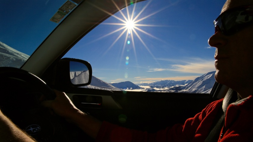 Driving to Porter Heights Ski Area, Canterbury, New Zealand