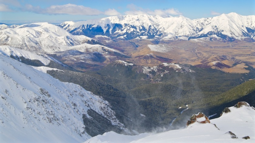 View from Broken River Ski Area, Canterbury, New Zealand