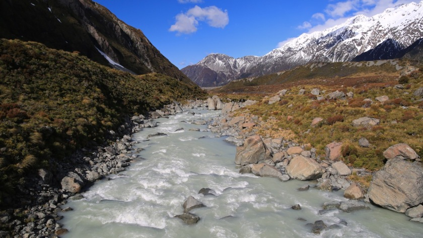 Hooker River, Aoraki Mount Cook, NZ