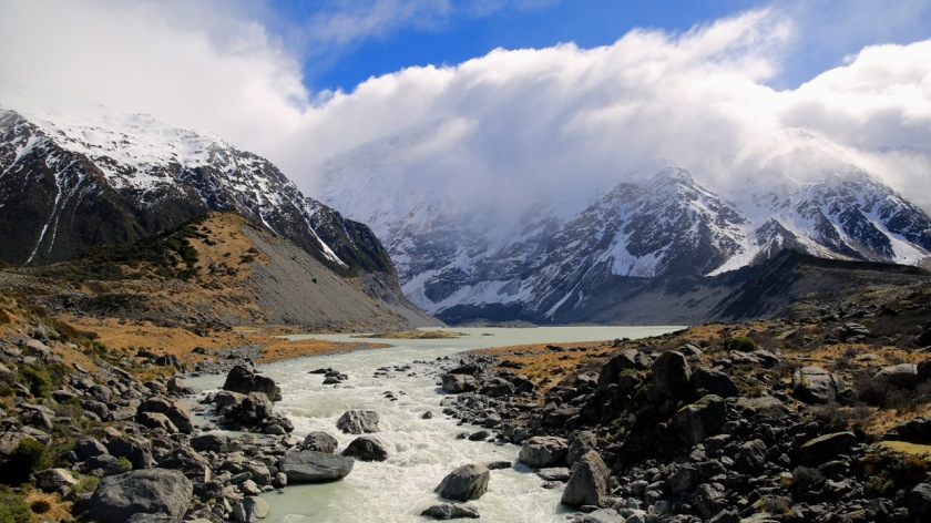 Mt Sefton & Mueller Lake, Aoraki Mount Cook, NZ