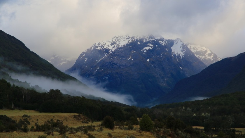 Low cloud in the Caples Valley, Mount Aspiring National Park, New Zealand