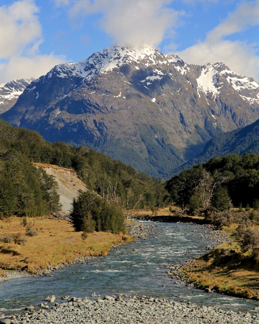 Caples Valley, Mount Aspiring National Park, New Zealand