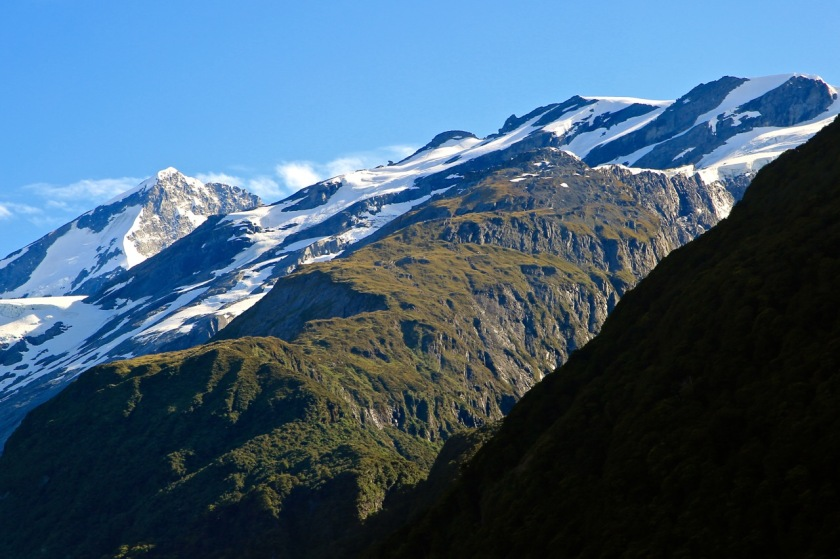 French Ridge and Mount Aspiring near Wanaka NZ