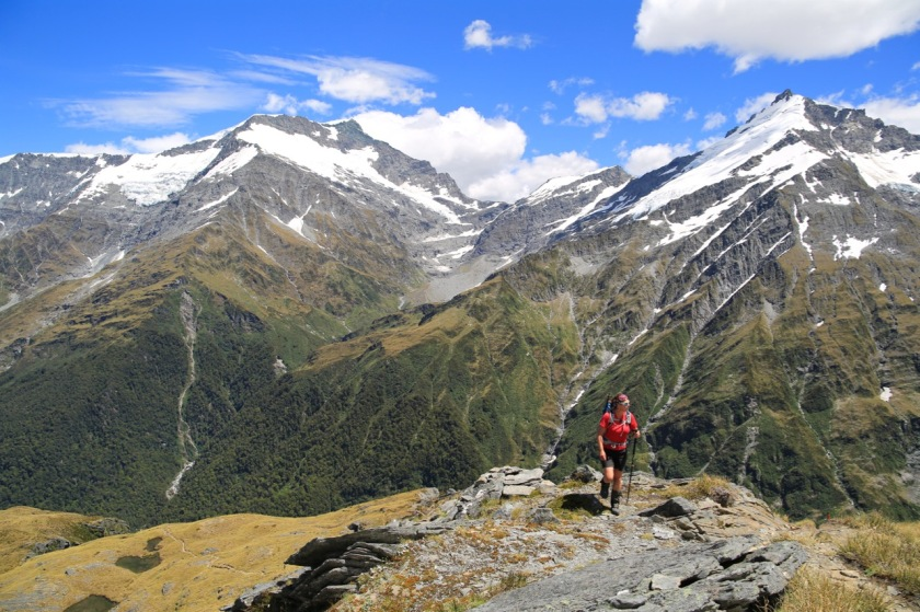 Hiking in Mount Aspiring National Park, New Zealand