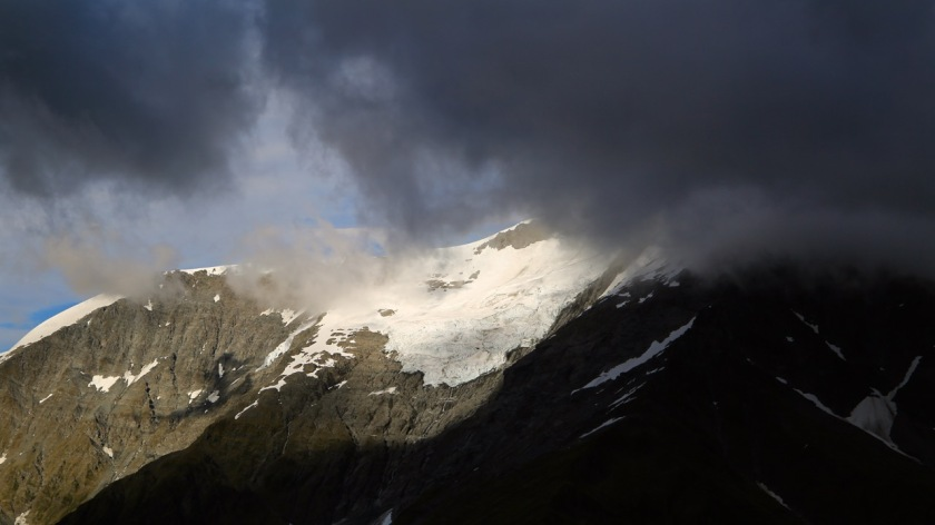 Clouds above Islington Dome, Mt Aspiring National Park NZ