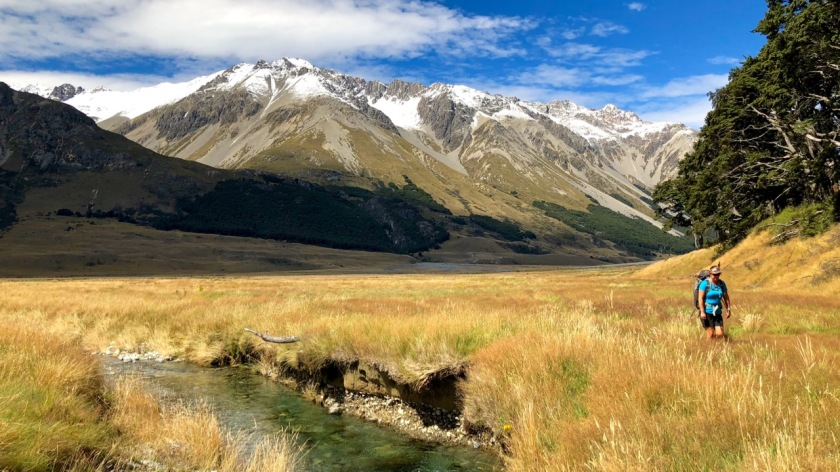 Hiking in the Ahuriri Valley, South Island, New Zealand
