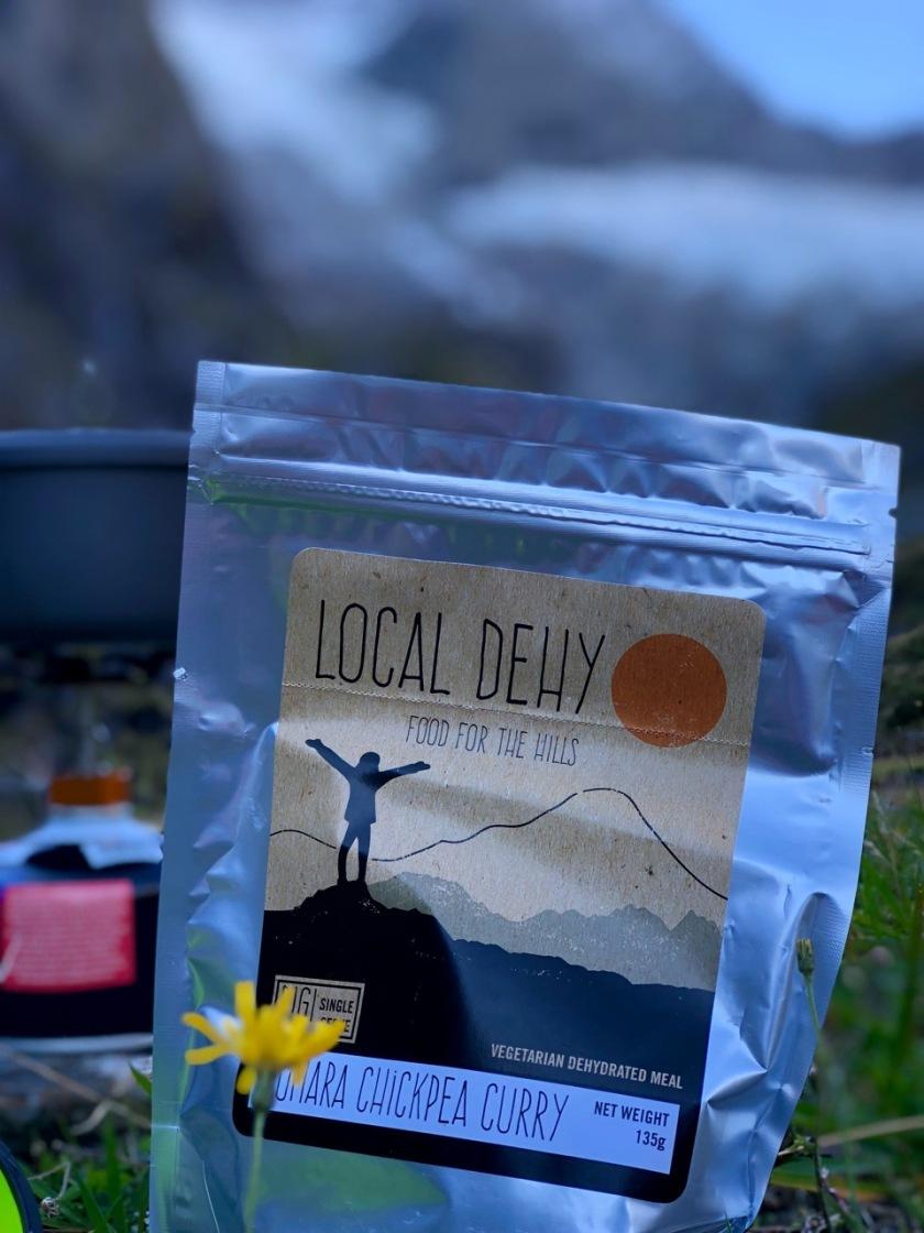 Camping food at Rob Roy Valley, Wanaka, Mt Aspiring National Park, New Zealand
