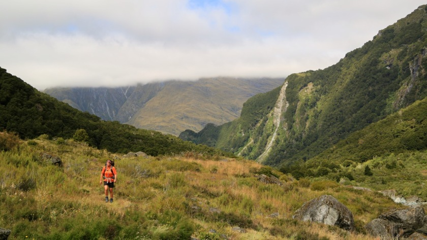 Hiking in the Rob Roy Valley, Wanaka, Mt Aspiring National Park, New Zealand
