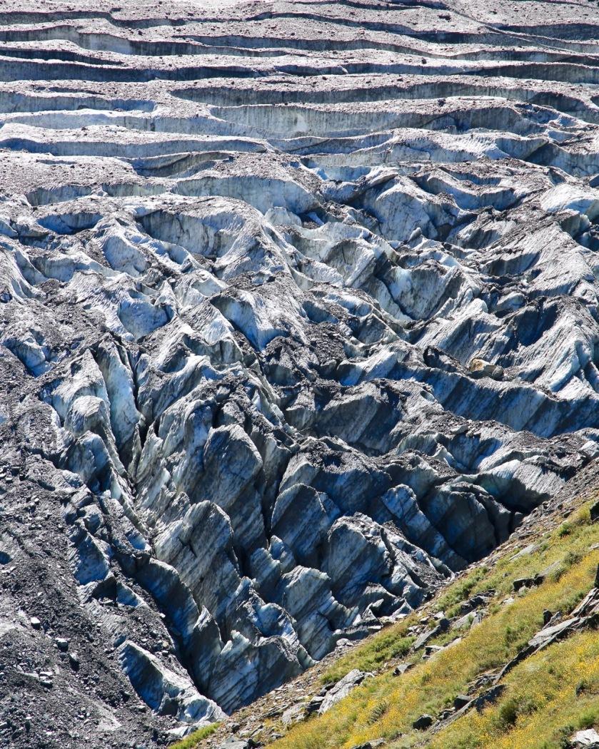 Crevasses on the Rob Roy Glacier, Wanaka, Mt Aspiring National Park, New Zealand