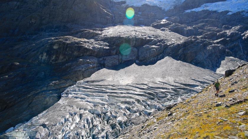 Hiking on the Rob Roy Glacier, Wanaka, Mt Aspiring National Park, New Zealand