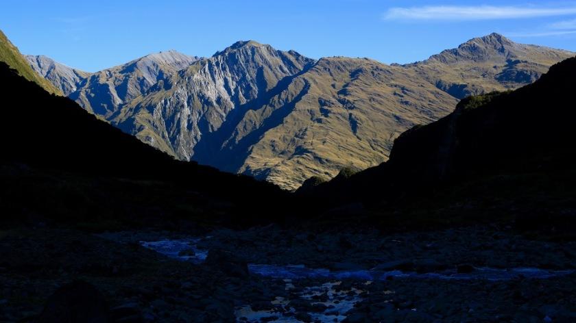 View of the Matukituki Valley from the Rob Roy Glacier, Wanaka, Mt Aspiring National Park, New Zealand