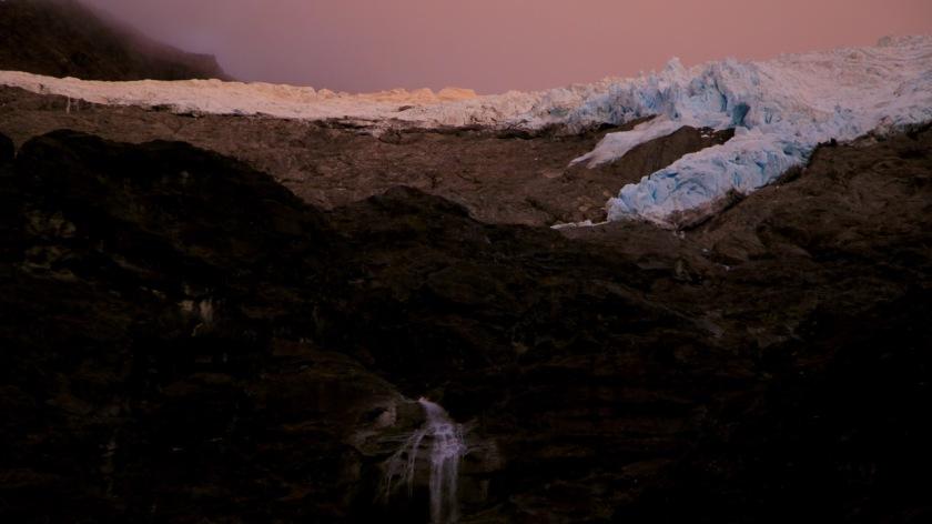 Sunrise above the Rob Roy Glacier, Wanaka, Mt Aspiring National Park, New Zealand