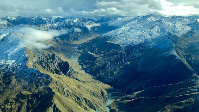 The mountains of the Southern Alps near Treble Cone, Wanaka, New Zealand