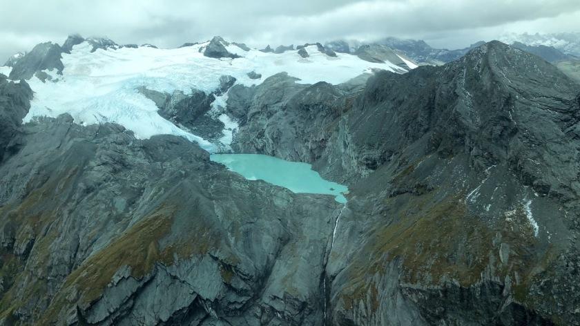 Park Pas Glacier, Mt Aspiring National Park, New Zealand