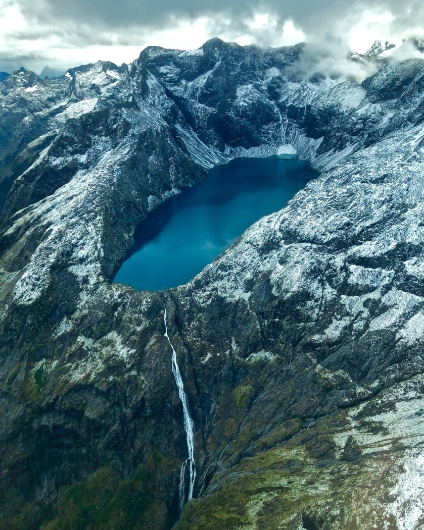 Lake Erskine and Bowmar Waterfall, Fiordland, New Zealand