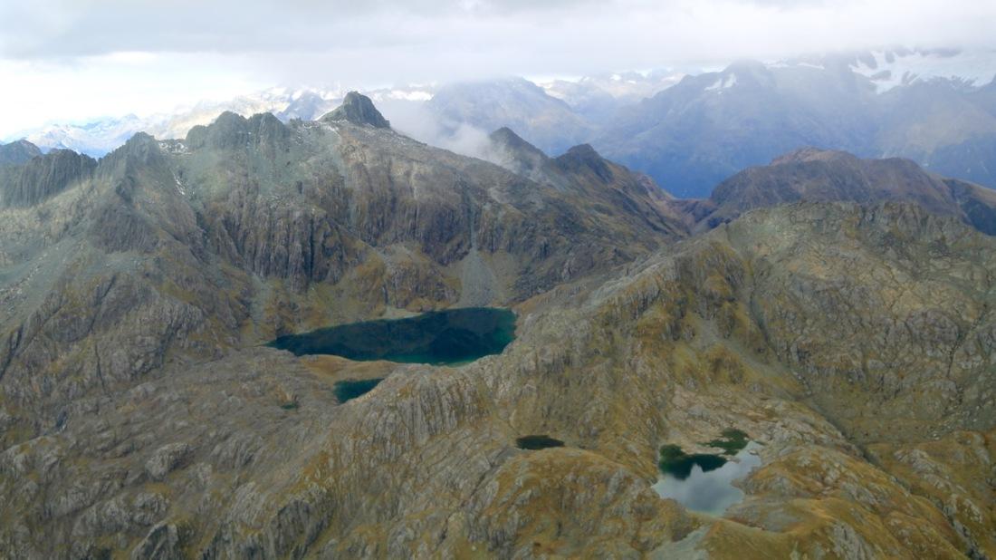 Alpine tarns in Fiordland National Park, New Zealand