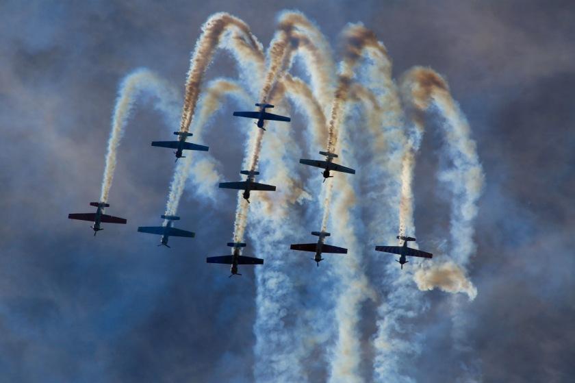 Yak Display Team at Warbirds Over Wanaka Airshow