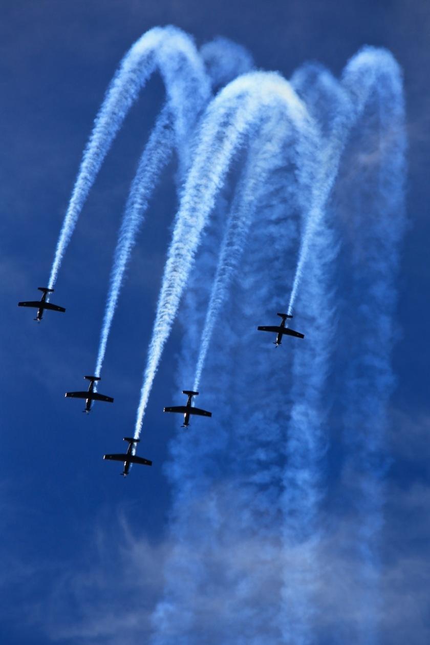 RNZAF Black Falcons at Warbirds Over Wanaka Air Show