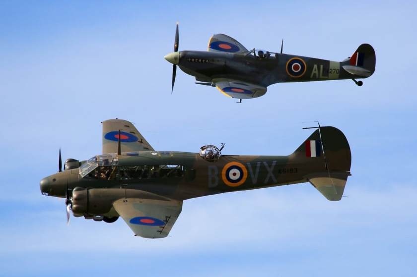 Supermarine Spitfire and Avro Anson at Warbirds Over Wanaka Air Show