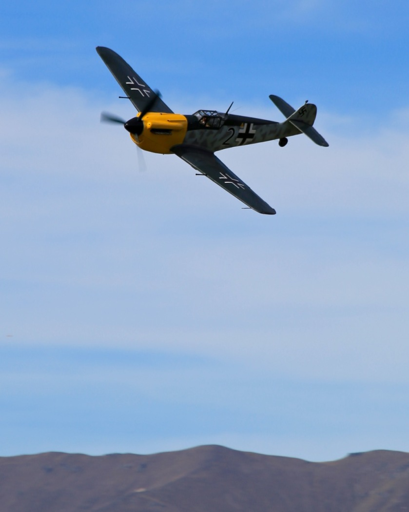 ME 109 fighter plane at Warbirds Over Wanaka Air Show