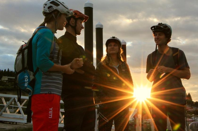 Sunburst at sunrise Wanaka NZ