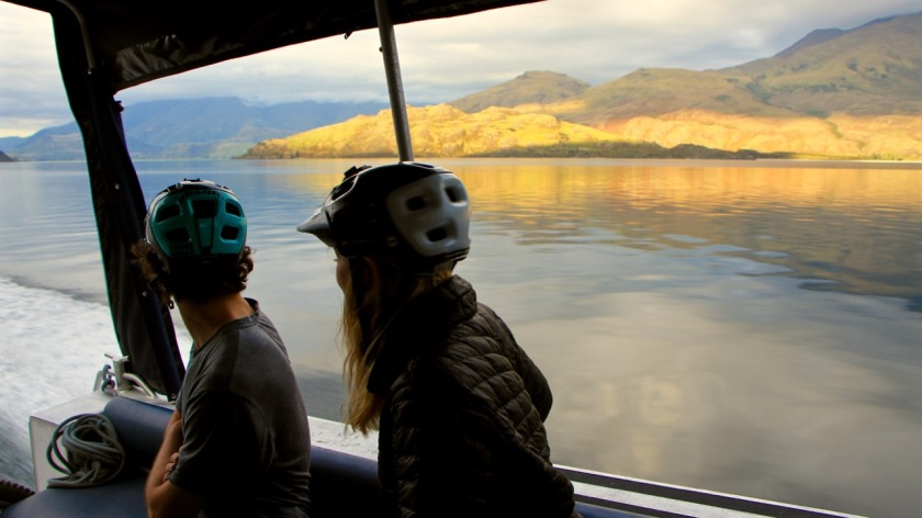 Reflections seen from a boat cruise on Lake Wanaka, NZ
