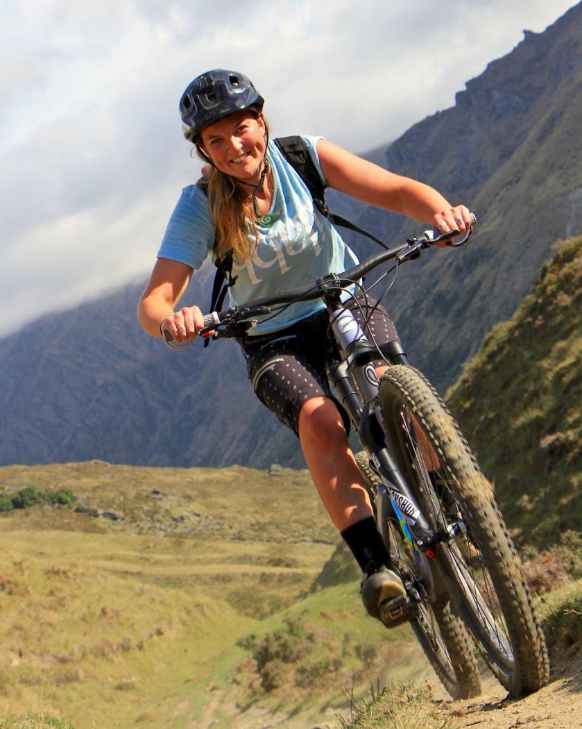 Mountain biker in Lake Wanaka, NZ