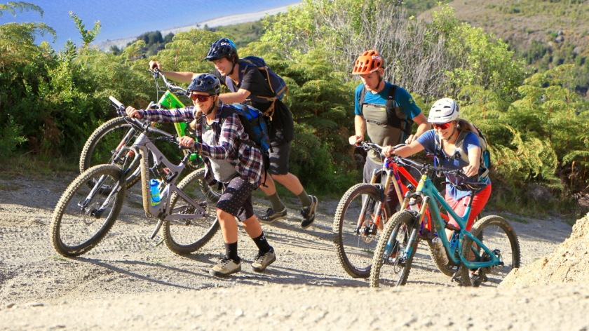 Mountain biking, Lake Wanaka NZ