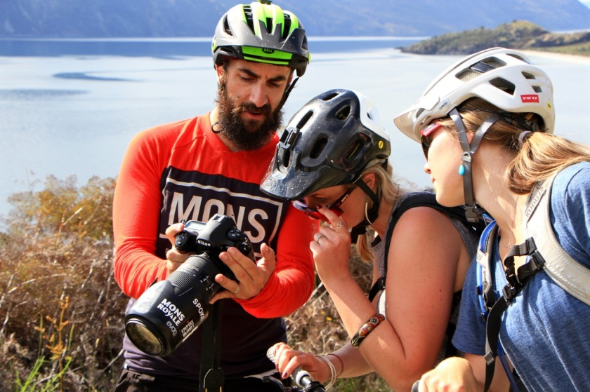 Mountain biking photoshoot in Wanaka NZ