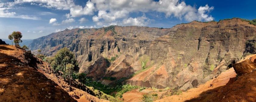 Panorama of Waimea Canyon, Kauai, Hawaii