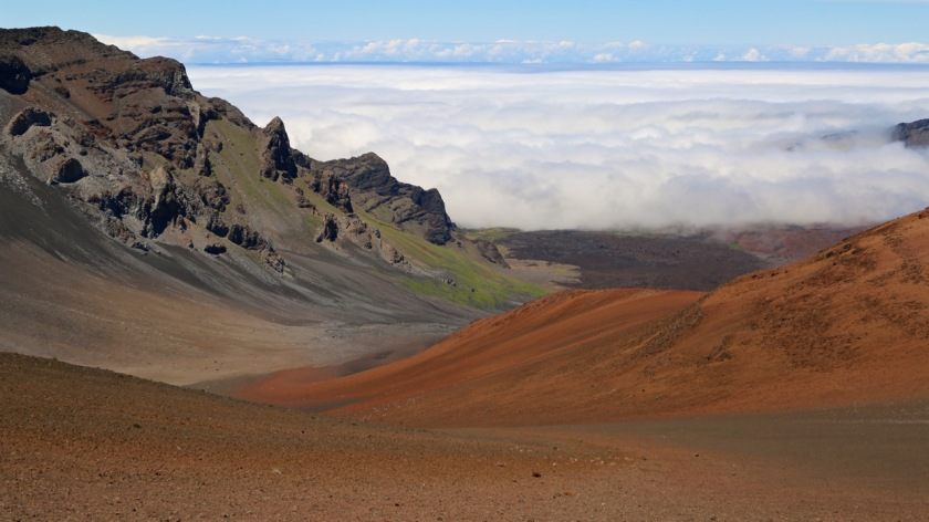 Above the clouds in the Haleakala Crater, Maui, Hawaii