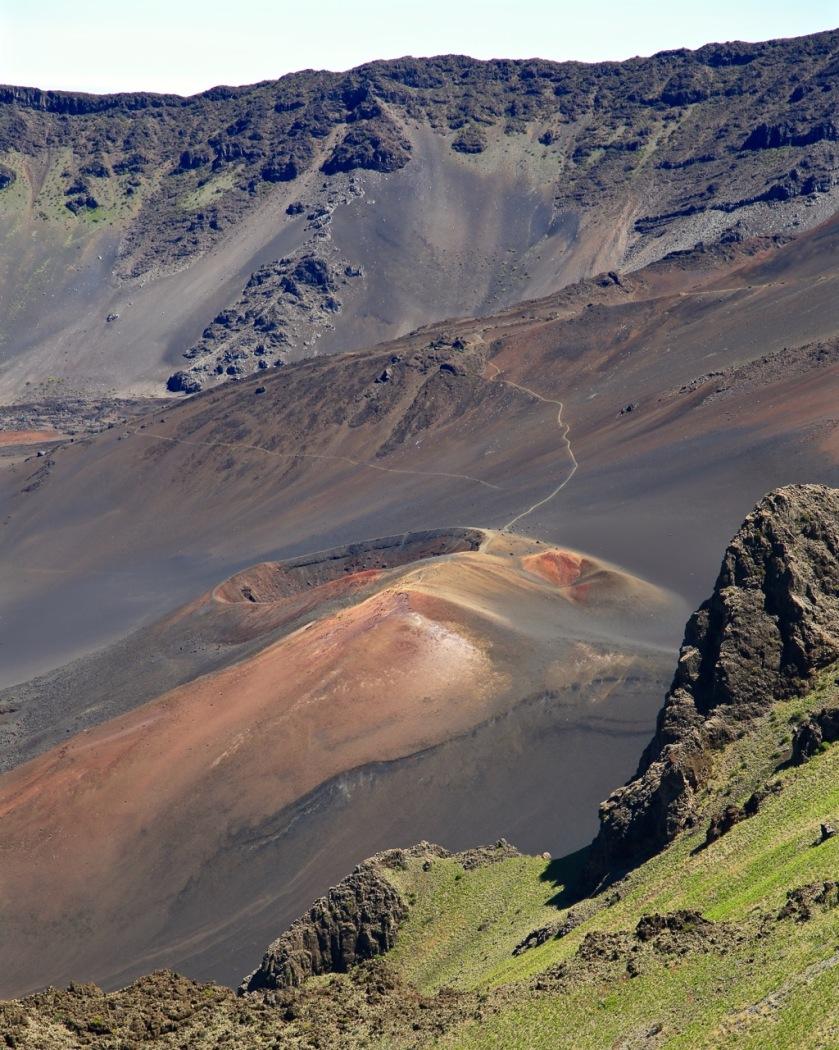 Volcanic cone in the Haleakala Crater, Maui, Hawaii