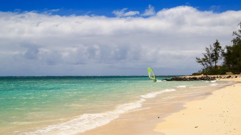 Windsurfing at Ho'okipa Beach Park, Maui, Hawaii