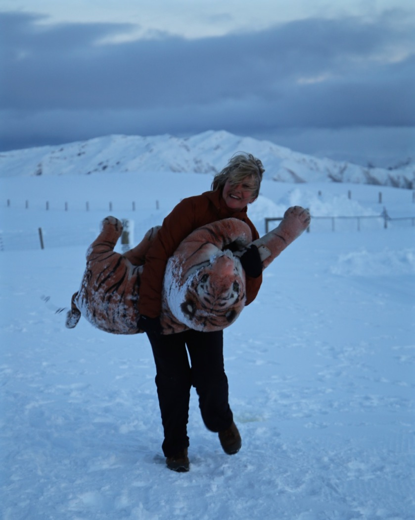 Dancing with a tiger, Snow Farm, Wanaka NZ