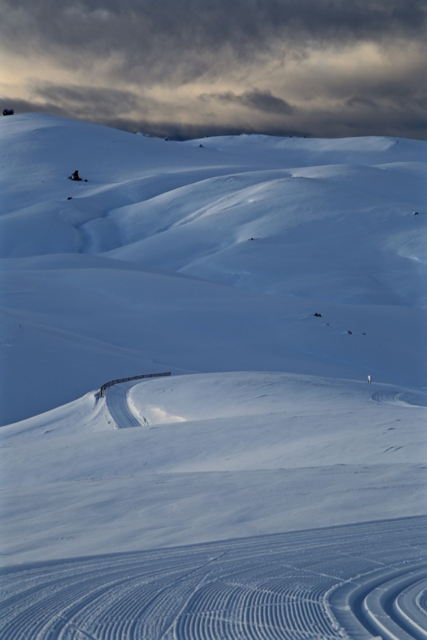 Fresh snow and groomed trails at Snow Farm, Wanaka NZ