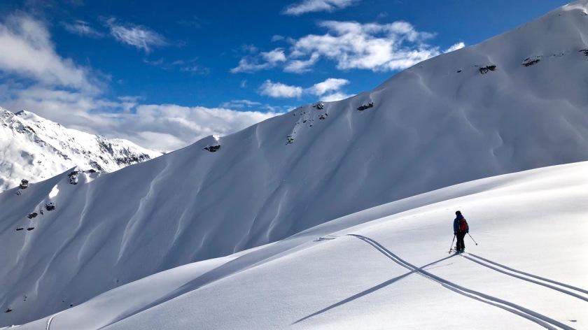 Backcountry ski-touring at Treble Cone, Wanaka NZ