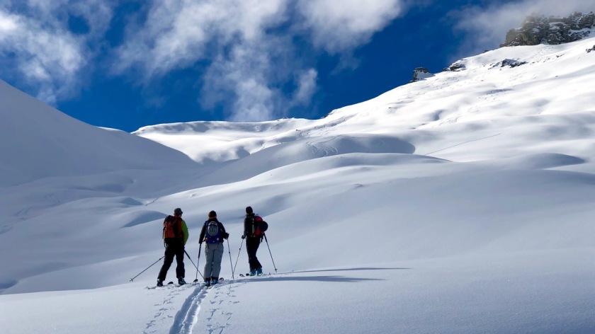 Backcountry skiing at Treble Cone, Wanaka NZ