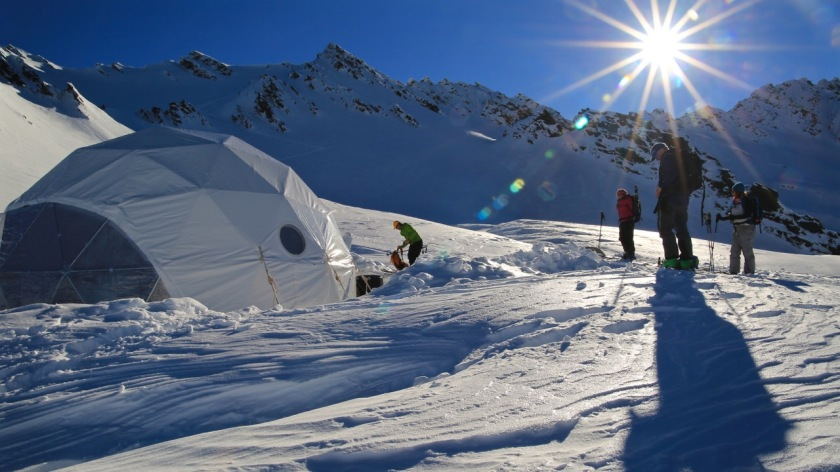Ski touring in the Southern Alps, Wanaka New Zealand