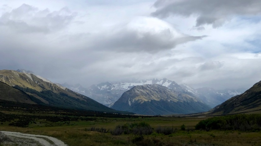 Storm front in the mountains of the Southern Alps, New Zealand