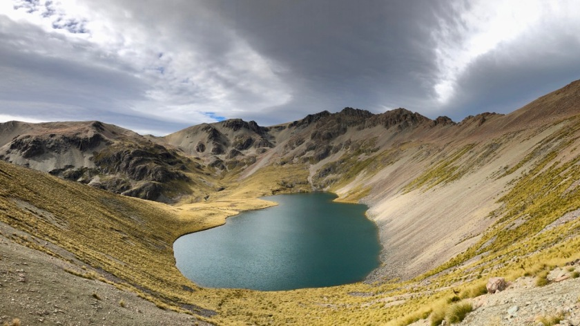Lake Dumb Bell in the Southern Alps NZ